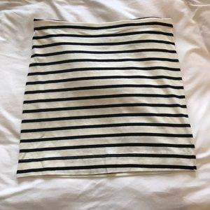 H&M Basic Stripe Bodycon Skirt
